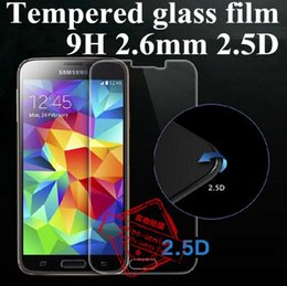 Wholesale Lcd Bubble - 2.5D 9H Tempered Glass LCD Screen Film PROTECTOR Screen Guard With Bubble Packing For Samsung Galaxy Note 3 4 5 7 S3 S4 S5 S6 S7 A5 A7 A9
