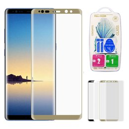 Wholesale 3d Glasses Prices - Factory Price 2017 New Arrival For Samsung Galaxy Note 8 Note8 Full Screen Cover 3D Curved Edges Front Tempered Glass Screen Protector Film