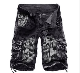 Wholesale Workout Xs - 2017 Men Military Shorts Summer Men's Camouflage Army Cargo Shorts Workout Shorts Homme Casual Bermuda Trousers plus size