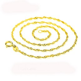 Wholesale Fine Wave - 18K Genuine Gold Plated Water Wave Chain Cross Chains For DIY Fine Jewelry Making Luxury Chain Necklace Gift