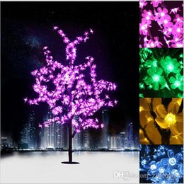 2017 NEW LED Cherry Blossom Tree Light Luminaria 1.5M 1.8M LED Tree Lamp  Landscape Outdoor Lighting For Christmas Wedding Deco