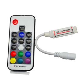 Wholesale 5v 12v 24v - DC 5V-24V 12A 17key mini RF wireless RGB LED strip remote Controller for 3528 5050 RGB LED Strip Lights Free shipping