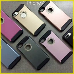 Wholesale Cases Phone Factory - New Creative For iPhone 7   6S Stealth Finger Buckle Bracket Mobile Phone Case Anti-Drop Protection Factory Direct via DHL Free Shipping