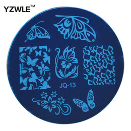 Wholesale Lace Stamps - Wholesale-1 PC Optional JQ Series (75 Styles Available) DIY Nail Art Lace Flower Stencils Stamping Template Printing Image Plates (JQ-13)