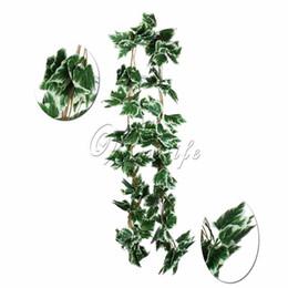 Plantas de folha de uva artificial on-line-Casamento 10 pçslote Artificial Grande Folha Uva Branca Ivy Leaf Guirlanda Plantas Videira Folhagem Falso Flores de Casamento Casa Decorações 7.5 Pés
