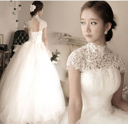 Wholesale Super Plus Size Wedding Gowns - New Arrival Hot Sale Fashion Luxury Princess Organza Lace White Diamond Lace Up Fairy Super Sweet Girl Ball Gown Bridal Wedding Dress