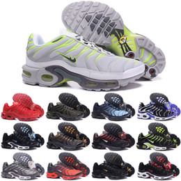 Wholesale Red Hot Hard - New Running Shoes Men TN Shoes Sell Like Hot Cakes Fashion Increased Ventilation Casual Shoes Olive Cargo GS Sneakers Shoes, Free Shipping