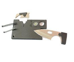 Wholesale Credit Card Knives - DHL free New 10 in 1 Multi Purpose Pocket Credit Card Survival Knife Outdoor Hunting Camping Tools Free Shipping, Wholesale