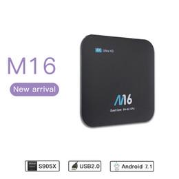 Wholesale Tv Smart Boxes Best Price - Best Price M16 4K Android 7.1 Smart TV Box Amlogic S905X Quad Core 32Bit UHD 4K 2K H.265 Box KD 17.4 Fully Load Media Player
