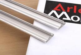 Wholesale Groove Boards - Slot plate aluminum strip Wanban shelf accessories card slot thicker Wantong plate aluminum alloy groove board Board slot tube rail tube