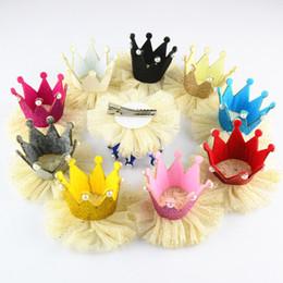 Wholesale Bird Hair Clips - free shipping 20pcs lot Girls Headdress Accessories Kids Girls Headband Crown Rabbit Birds Hair Wear Lace Bowknot Flower Hair Clips H0218