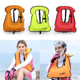 Wholesale Pvc Vest - Swimming Vest Portable Inflatable Life clothing Adult Children Buoyancy Vest Float Snorkeling Gear Swimwear Inflatable Life jacket z069