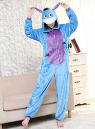 Wholesale Cheap Onesie Dress - big sale cheap price free shipping adult unisex fannel animal onesie pajamas costume fancy dress blue donkey