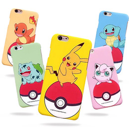 Wholesale Pokemon Iphone Case - Cute Cartoon Poke Mon Pickachu Cell Phone Case PC Hard Protective Back Cover For Iphone 6 6s Plus With Retail Package