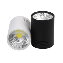 Wholesale Spotlight Down - LED Cylinder Ceiling Down Light COB Suspended Pendant Spotlights Surface Mounted LED Lighting Fixtures For Home 20W 30W