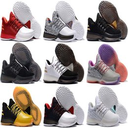 Wholesale Light Up Basketball - 2017 New Harden Vol. 1 Men Basketball Shoes James Harden Vol. 1 JH13 Rocket Red White GS Boost Shoes Athletic Sneakers eur 40-46