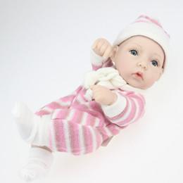 Wholesale Realistic Girl Model - 11'' Realistic Reborn Baby Newborn Real Looking Baby Doll girl Lifelike