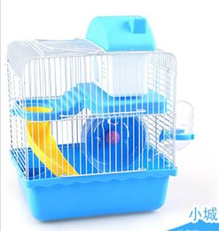 Wholesale Rat Accessories - hamster cage house hamster toy cage hamster luxury villa small corner plastic cover small garden cage