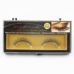 Wholesale beauty shorts - 1 pair False Eyelashes 3D Handmade Mink Eye Lashes Natural short Fack Eyelashes Beauty Makeup Fake Eye Lashes Extension Toolsl Faux