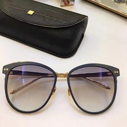 2019 beliebte mantel marken LF547 Linda Farrow Luxus Fashiong Sonnenbrille mit Beschichtung Spiegel Objektiv UV-Schutz Beliebte Marke Designer Titan Runde Rahmen Top-Qualität günstig beliebte mantel marken