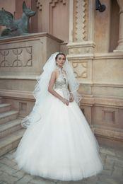 Wholesale Wedding Dress Simple Ballgown - Crystals Wedding Dresses 2017 New Arrival Oved Cohen with Free Veil vestido de novia Beading Bling Bling Ballgown robe de mariage