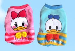 Wholesale Donald Duck Wedding - Donald Duck Coral Fleece Pet Dog Clothes Cat Costume Apparel Warm Coat