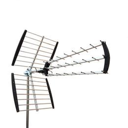 Wholesale Digital Tv Hdtv Antenna - 180 Mile HDTV Outdoor Amplified HD TV Antenna Digital UHF VHF FM Radio XJ-450C 88022015