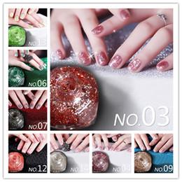Wholesale Wholesale Shimmer Nail Polish - Wholesale-10ml Shiny Glitter Nail Shimmer Polish Fashion 1 Bottle 12 Colors Nail Art Varnish