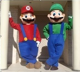 Wholesale Super Mario Characters Costumes - Super Mario Costume Mascot Cartoon Character Costume Performance Mascot Free shpping by EMS