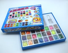 Wholesale Complete Diy - 2000pcs 24 Colour DIY Water Sticky Magic Beads Pegboard Complete Set Fuse Beads Jigsaw Puzzle Water Beadbond Educational Diy Toys
