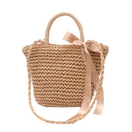 handmade bags sale UK - Handmade Vintage straw shoulder bags for party and Wedding shopping totes bag women cross body Luxury bags hot sale