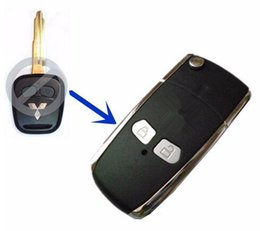 Wholesale Mitsubishi Button Key - Remote Key Shell Mitsubishi LANCER EVO 2 Buttons Blank Key Replacement Case Cover Keyless Entry Fob Case Car Alarm Cover Housing