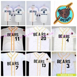 Wholesale The Bad News Bears Button Down Kelly Leak Tanner Boyle White Movie Stitched Baseball Jersey