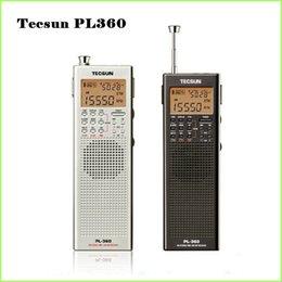 Wholesale Tecsun Sw Shortwave - Wholesale-Tecsun PL 360 portable radio usb digital AM FM pocket radio recorder Shortwave PLL DSP ETM SW MW LW Receiver pl-360