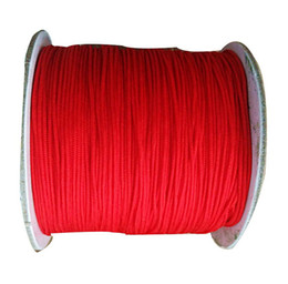 Wholesale Chinese Red String Bracelets - 0.8mm Red Rattail Braid Nylon Cord+Jewelry Accessories Beading Macrame Rope Shamballa Bracelet Chinese Knot String 200m=1Roll