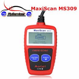Venta al por mayor- Nueva llegada MaxiScan MS309 OBD2 OBDII EOBD Escáner Lector de código de coche Probador de datos de escaneo Herramienta de diagnóstico de MS 309 desde fabricantes
