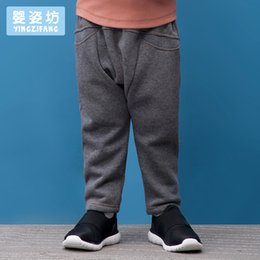 Wholesale Cashmere Baby Pants - Yingzifang Boys Baby Winter Thick Velvet Solid Leggings Inverted Cashmere Warm Pants Boys Winter Pants Fleece Warm Thick Pants