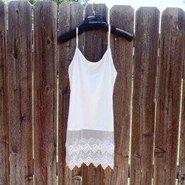 Wholesale Long Vest Tops Women - Wholesale- 1 Pc Fashion Sexy Women Knitted Long Strap Vest Sleeveless Lace Tank Top Shirt Blouse