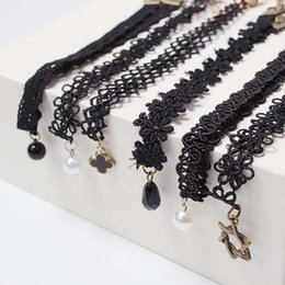 Wholesale Korean Child Fashion - New Lace Children necklace Girls collarbone chain necklace Fashion Korean kids necklet baby choker Girl jewelry Necklace A771