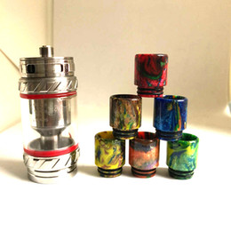 Wholesale Deluxe Atomizer - 2017 Deluxe TFV12 Epoxy Resin Drip Tips Smok TFV8 TFV12 Cloud Beast Big Baby Tank Atomizer Kit Wide Bore Drip Tips
