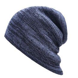 Wholesale Military Hat Male - Unisex Beanie Winter Hats Cap Men Women Stocking Hat Beanies stripe Knitted Hiphop Hat male Female Warm wool Cap Winter