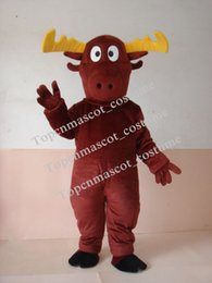 Wholesale Fast Shipping Costumes - Best 2012 Fast custom new MOOSE DEER Mascot Adult Costume by express free shipping Christmas macot-21
