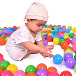 Wholesale Funny Swimming - Wholesale- 100pcs lot Baby Play Toy Pool Balls Eco-Friendly Soft Funny Baby Kid Swim Plastic Balls Pit Balls Bath Toy For Pool