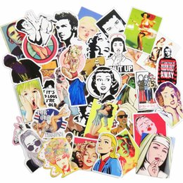 Wholesale Diy Phone Stickers - 50 Pcs Boys and Girls Car Sticker Mixed Home Decor Phone Skateboard Toy Waterproof DIY Decal Car Styling Luggage Laptop JDM Stickers