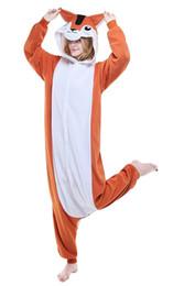 Wholesale Kigurumi Squirrel - HappyBuy Squirrel Kigurumi Pajamas Animal Onesies Pajamas Onesies Women's One Piece Hooded Fleece Onesies Pajamas