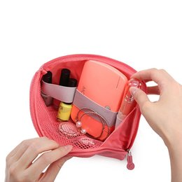 Wholesale Cable Travel Pack - Wholesale- yellow pink Versatile Travel Data Cable Charger Storage Bag Mobile Power Pack Pouch Bag Women Men