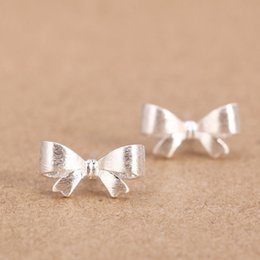 Wholesale Kids Butterfly Earrings - Womens 100% 925 Sterling Silver Jewelry Fashion cute Tiny Butterfly Stud Earrings Gift for School Girls Kids Lady DS14