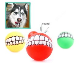 Wholesale Dog Toys Balls - Pet Puppy Dog Funny Ball Teeth Silicon Toy Chew Sound Dogs Play Toys