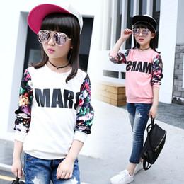 Wholesale Sweater Korean Girl - Wholesale- Wear long sleeved shirt in autumn female child child leisure fashion 2016 new Girl Korean loose sweater