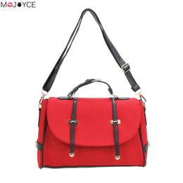 Wholesale British Vintage Leather Bag - Wholesale- British Style Nubuck Leather Women Handbag Fashion Women Shoulder Bag Vintage Briefcase Bag Small Crossbody Shoulder Bag Bolsa
